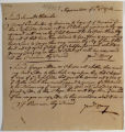 James Kenny's letter to Samuel Sthallnicker