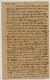Pemberton's Letter from Benjamin Lightfoot