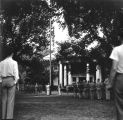 Army students in front of Roberts Hall