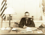 Major William J. Frey at his desk at Haverford