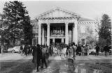 Students and Guests in Front of Roberts Hall