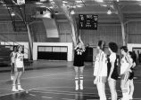 Woman's basketball free throw