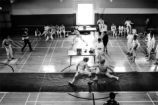 Aerial  view of fencing matches