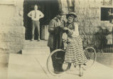 Billi Mead and Ed Kingsbury in dress up for Rufus [Jones'] last class on Jan. 22, 1926