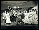 Oklahoma!: Select cast members watching Harry Stockwell as Curly and Evelyn Wyckoff as Laurey make...