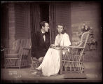 The Philadelphia Story: Frank Fenton as George Kittredge and Katharine Hepburn as Tracy Lord