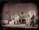 The Philadelphia Story: Cast, interior of Lord home, with Katharine Hepburn and Nicholas Joy at...
