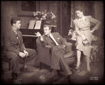 The Philadelphia Story: Hayden Rorke as Mac, Van Heflin as Mike Connor, and Shirley Booth as Liz...