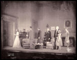 The Philadelphia Story: Wide view of cast in interior of the Lord home, Katharine Hepburn as Tracy...