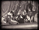 As You Like It: Ernest Thesiger as Jacques surrounded by other male cast members