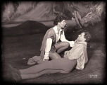 As You Like It: Katharine Hepburn (kneeling) as Rosalind/Ganymede and William Prince as Orlando...