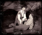 As You Like It: Katharine Hepburn (kneeling) as Rosalind/Ganymede and William Prince (reclining)...