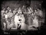 As You Like It: Mid-range view of the wedding scene, featuring William Prince and Katharine...