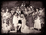 As You Like It: Close view of the wedding scene, featuring William Prince and Katharine Hepburn at...