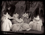 As You Like It: Cloris Leachman as Celia (at left), Katharine Hepburn as Rosalind (seated at...