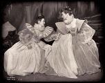 As You Like It: Vanessa Brown as Celia and Katharine Hepburn as Rosalind, both seated