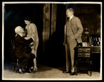 Strange Interlude: Maurice McRae (or Philip Leigh) as Professor Leeds (seated), Judith Anderson as...