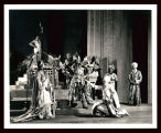 Marco Millions: Margalo Gillmore as Kukachin (left) and Alfred Lunt as Marco Polo (center) and...