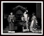 Marco Millions: Dudley Digges (as Chu-Yin), Alfred Lunt (as Marco Polo), and Margalo Gillmore (as...