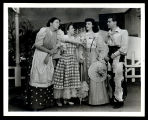 Oklahoma!: Betty Garde as Aunt Eller, Joan Roberts as Laurey, Jane Lawrence as Gertie, and Alfred...