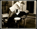 You Never Can Tell: Tom Helmore as the dentist, Dr. Valentine, and Ralph Forbes as his landlord,...