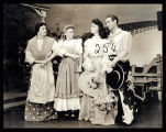 Oklahoma!: An unidentified actress as Aunt Eller, Evelyn Wyckoff as Laurey, Jane Lawrence (?) as...