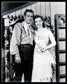 Oklahoma!: Wilton Clary as Curly and Carolyn Tanner as Laurey, dressed for the wedding scene in...