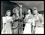 Oklahoma!: Evelyn Wyckoff as Laurey, David Burns as Ali Hakim, Mary Marlo (?) as Aunt Eller, and...