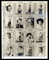 Oklahoma!: Contact sheet with thumbnails of actors playing Laurey and Curly in two different...