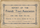 Report of the Friends' Tract Association 1915-1916