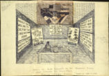 Drawing of booth exhibited by the Rochester Political Action Committee for World Peace, Rochester...
