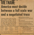 Vietnam: America must decide between a full-scale war and a negotiated truce