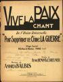 Vive la Paix Chant (de l'Union...