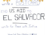 Write A Postcard; End U.S. Aid To El Salvador; Write for Peace With Justice; Delaware County...