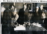 Signing of the Taft Arbitration Treaties at Washington, The [title of the newsclipping, not of the...