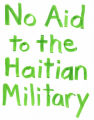 No Aid to the Haitian Military