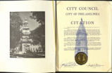 City Council, City of Philadelphia. Citation.