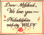 Dear Mildred, We Love You