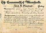 Commonwealth of Massachusetts, to Allen S. Olmstead...