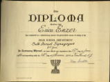 Diploma of Erica Enzer