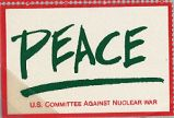 Peace; U.S. Committee Against Nuclear War