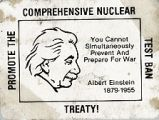 Promote the Comprehensive Test Ban Treaty! You Cannot Simultaneously Prevent and Prepare for War....