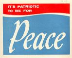 It's Patriotic to Be for Peace