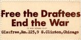 Free the Draftees; End the War; GI Week, October 21-27