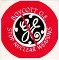 Boycott G.E.; Stop Nuclear Weapons