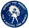 Boycott This Product for a Nuclear Free America