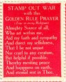 Stamp Out War With the Golden Rule Prayer (True For Every Religion); Almighty Source of All, Who...