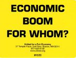 Economic Boom for Whom? United for a Fair Economy