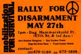 Rally for Disarmament; May 27th, 1 pm - Dag Hammarskjold Pl. (47th St. & 1st Ave.); Zero...