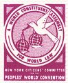 A World Constituent Assembly for World Law; New Nork Citizen's Committee for the People's World...